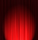Red silk curtain background Royalty Free Stock Photos