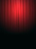 Red silk curtain background Stock Images