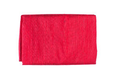 Red silk fabric Stock Photography