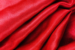 Red silk fabric texture Stock Photography