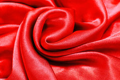 Red silk fabric texture Stock Photo