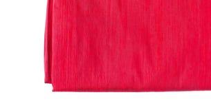 Red silk fabric texture Stock Photos