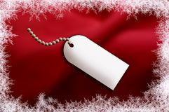 Red Silk gift tag Royalty Free Stock Image