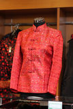 Red silk jacket Stock Images