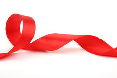 Red silk ribbon Stock Image