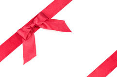 Red silk ribbon  Royalty Free Stock Images