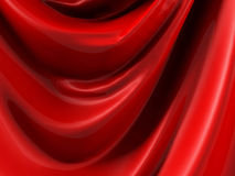 Red Silk Satin Cloth Folds Abstract Background Stock Photography