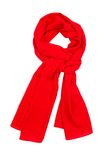Red silk scarf isolated on white background. Stock Photos