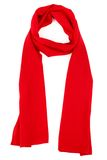Red silk scarf on a white background Stock Images
