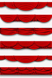 Red silk set Pelmet and silk red curtains Stock Image