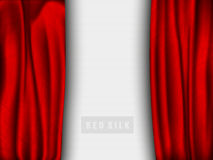 Red silk with a shadow Royalty Free Stock Photography