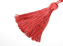 Red silk tassel Stock Image