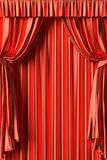 Red silk theater curtain Stock Image