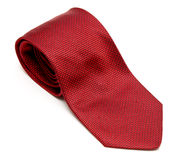 Red silk tie Stock Images