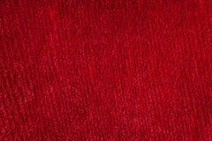 Red silk velvet macro texture Stock Images