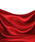 Red Silk. Waves of red silk as background Stock Photography