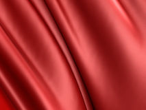 Red silk wavy cloth fabric elegant background. 3d render illustration vector illustration