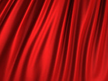 Red silk wavy cloth fabric elegant background. 3d render illustration stock illustration