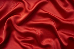 Red silky background. Royalty Free Stock Images