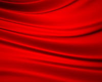 Red silky background Stock Photos