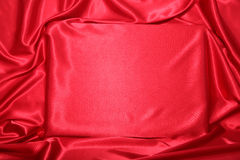 Red silky invitation Stock Photo