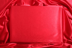 Red silky invitation Royalty Free Stock Photography