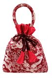 Red silky money bag, Lucky Pouch Stock Image