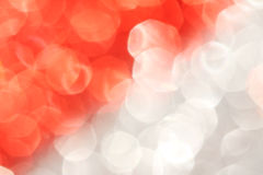 Red and silver abstract bokeh - perfect christmas and Valentine background Royalty Free Stock Photo