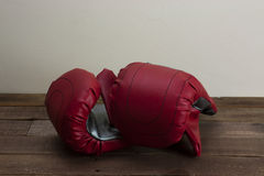 Red and silver boxing gloves Royalty Free Stock Photography