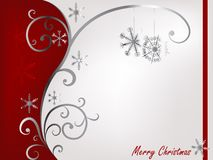 Red and silver Christmas Stock Photography