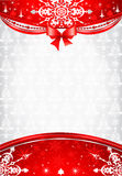 Red and silver christmas background Royalty Free Stock Image