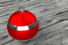 Red silver Christmas bauble Royalty Free Stock Photography