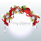 Red Silver Christmas Ornament Background Royalty Free Stock Photos