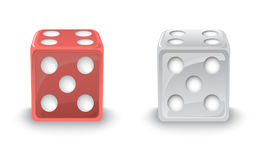 Red and Silver Dices Royalty Free Stock Photography