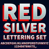 Red silver Font Stock Photography