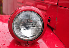 Old Willys Firetruck headlamp Royalty Free Stock Photography