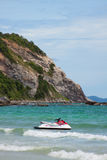 Red and silver jet ski Royalty Free Stock Photo