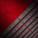 Red and Silver Luxury Floral Background Stock Image
