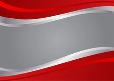 Red and silver wave vector background Stock Photography