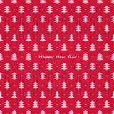 Red Simple Christmas Tree Pattern Stock Photos