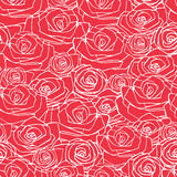 Red simple rose seamless pattern Royalty Free Stock Image