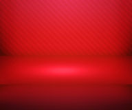 Red Simple Spotlight Stage Background. Texture Stock Images