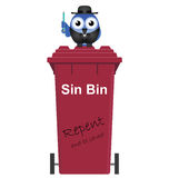 Red Sin Bin Royalty Free Stock Images