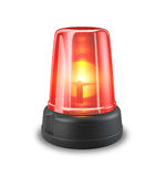 Red siren. 3d illustration on white background Stock Photography