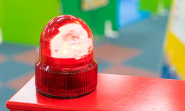 Red Siren light. Toy Red Siren light in nursery Royalty Free Stock Image