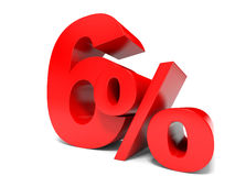Red six percent off. Discount 6%. Stock Image