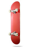 Red skateboard deck on white background, isolated path included Stock Images