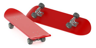 Red skateboards Stock Photos