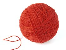 Red skein Stock Photo