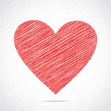 Red sketch heart design Stock Photos